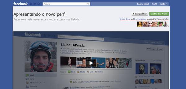 novo perfil facebook