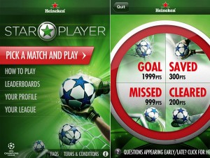 Heineken Star Player: Um aplicativo muito divertido