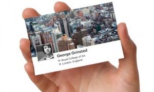 Cartão de visita do Facebook